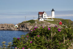 Nubble Lighthouse in Summertime Stock Photo