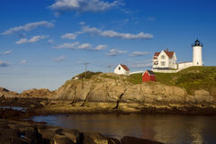 Nubble Lighthouse Wide View Stock Photos