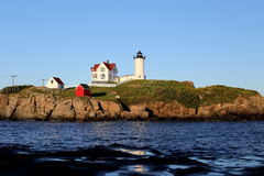 Nubble Lighthouse. The nubble lighthouse in York, Maine Stock Photo