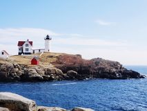 Nubble Lighthouse in York ME royalty free stock photos