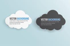 Nube abstracta de la tempestad de truenos del fondo del vector. Imágenes de archivo libres de regalías