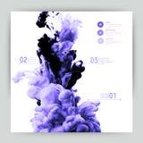 Nube abstracta del vector Entinte remolinar en el agua, nube de la tinta en wa Fotografía de archivo libre de regalías