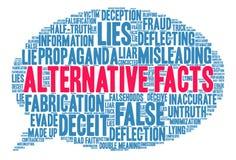 Nube alternativa de la palabra de los hechos Imagen de archivo libre de regalías