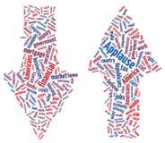 Nube americana de la palabra de la economía Imagen de archivo libre de regalías