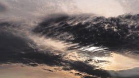 Nube anaranjada de oro negra Imagen de archivo libre de regalías