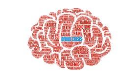 Nube animada de la palabra de la crisis del opiáceo