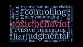 Nube animada de la palabra del comportamiento tóxico libre illustration