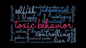 Nube animada de la palabra del comportamiento tóxico stock de ilustración