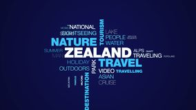 Nube animada de la palabra de la mujer turística del destino de las vacaciones de la forma de vida del paisaje de la isla del tur fotografía de archivo