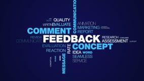 Nube animada de la palabra de la opinión del mensaje de cliente de la información de la parte de negocio del cliente de la comuni ilustración del vector