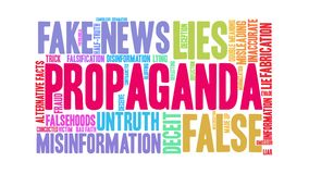 Nube animada de la palabra de la propaganda stock de ilustración