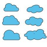 Nube azul en el fondo blanco Ilustración EPS10 del vector ilustración del vector