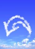 Nube bajo la forma de flecha imágenes de archivo libres de regalías