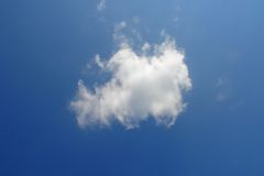 Nube bianca Immagini Stock