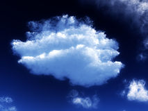 Nube bianca 53 Fotografie Stock Libere da Diritti