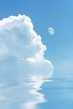 Nube bianca Fotografie Stock Libere da Diritti