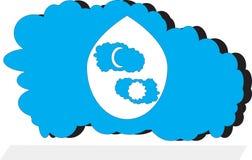 Nube blu illustrazione vettoriale
