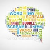 Nube booble de la palabra del discurso. Fotografía de archivo libre de regalías
