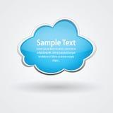 Nube brillante del vector para el texto Imagenes de archivo
