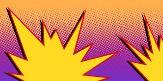 Nube cómica de la explosión amarilla libre illustration