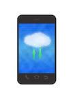 Nube che computa nello smartphone illustrazione vettoriale