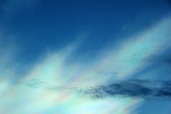 Nube colorida iridiscente hermosa Fotografía de archivo