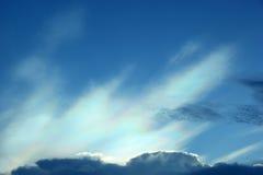 Nube colorida iridiscente hermosa Imagen de archivo