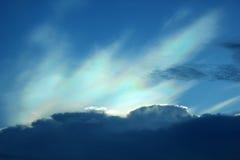 Nube colorida iridiscente hermosa Foto de archivo libre de regalías