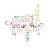 Nube computacional de la palabra de la nube Fotos de archivo