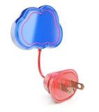 Nube con el enchufe Imagenes de archivo