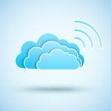 Nube con el símbolo de Wifi Foto de archivo libre de regalías
