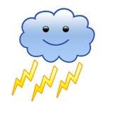 Nube con lampo [01] Immagine Stock