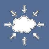 Nube con las etiquetas engomadas para el fondo del extracto del vector Libre Illustration