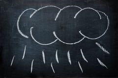 Nube con pioggia Immagine Stock