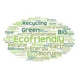 Nube conceptual de la palabra de la ecología aislada Fotos de archivo libres de regalías