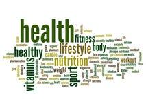 Nube conceptual de la palabra de la salud Imagenes de archivo