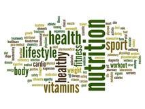 Nube conceptual de la palabra de la salud Imagen de archivo libre de regalías