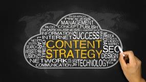 Nube contenta de la palabra de la estrategia Imagen de archivo libre de regalías