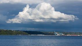 Nube de cumulonimbus grande Foto de archivo libre de regalías
