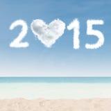 Nube de 2015 en la playa Fotografía de archivo