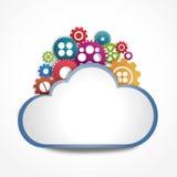 Nube de Internet con los engranajes Imágenes de archivo libres de regalías