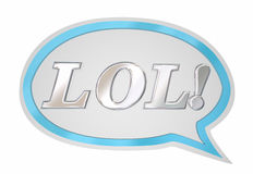 Nube de la burbuja de LOL Laughing Out Loud Speech Imagenes de archivo