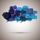 Nube de la burbuja del discurso Fotos de archivo