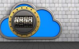 nube de la caja fuerte 3d Fotografía de archivo libre de regalías