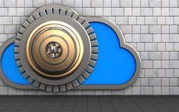 nube de la caja fuerte 3d Foto de archivo libre de regalías