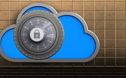 nube de la caja fuerte 3d Imagen de archivo