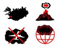 Nube de la ceniza volcánica Imágenes de archivo libres de regalías
