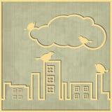 Nube de la ciudad Fotografía de archivo libre de regalías