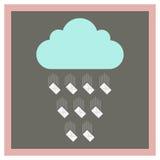 Nube de la cual la caída envuelve Imagen de archivo libre de regalías