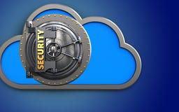 nube de la nube 3d Stock de ilustración